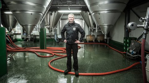 Im Gärkeller der Brauerei Ketterer