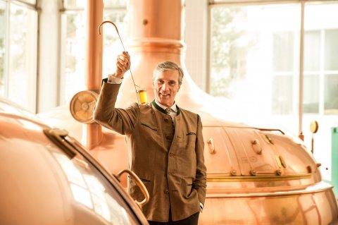 Brauereichef Michael Weiß im Sudhaus von Meckatzer