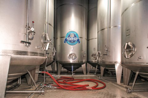 Im Gärkeller der Brauerei Faust