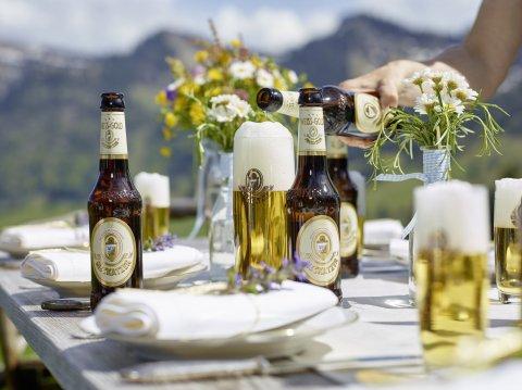 Das Meckatzer Weiss-Gold steht für außergewöhnlichen Biergenuss